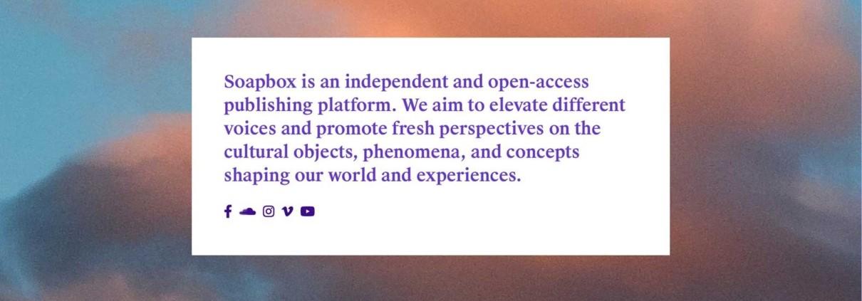 Soapbox Journal New Website